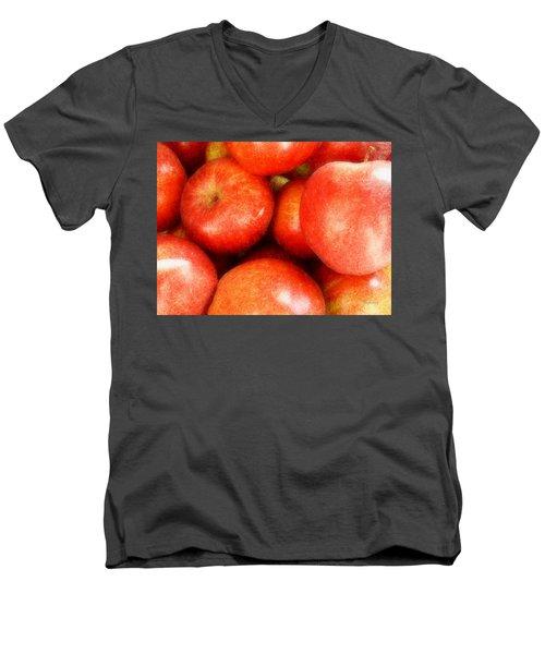 Apples Men's V-Neck T-Shirt by Cynthia Lassiter