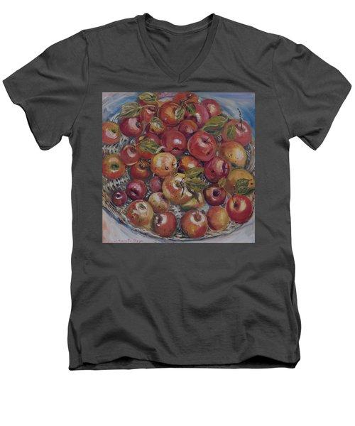 Apples Men's V-Neck T-Shirt by Alexandra Maria Ethlyn Cheshire