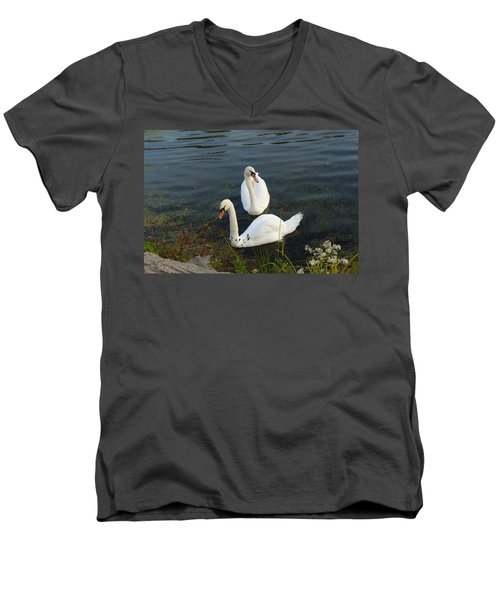 Men's V-Neck T-Shirt featuring the photograph Appreciation Of Love by Lingfai Leung