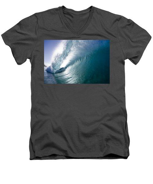 Aqua Curl Men's V-Neck T-Shirt