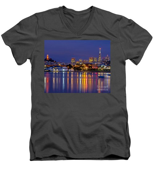 Aquatic Park Blue Hour Men's V-Neck T-Shirt