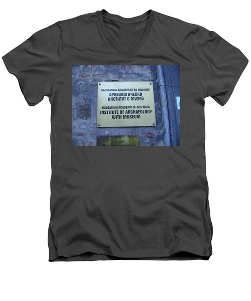 Archaeology Museum Men's V-Neck T-Shirt