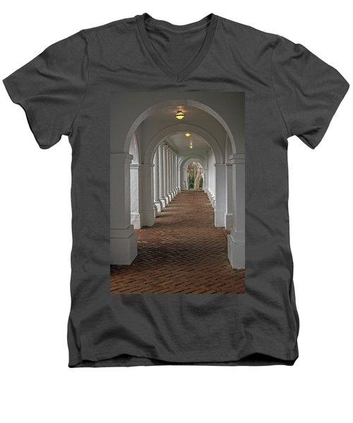 Arches At The Rotunda At University Of Va Men's V-Neck T-Shirt