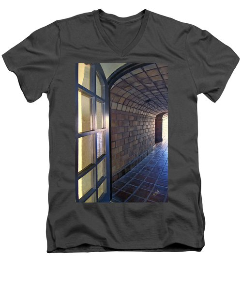 Archway In Mission Inn Riverside Men's V-Neck T-Shirt