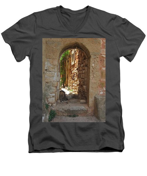 Men's V-Neck T-Shirt featuring the photograph Archway by Pema Hou