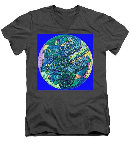 Arcturian Immunity Grid Men's V-Neck T-Shirt