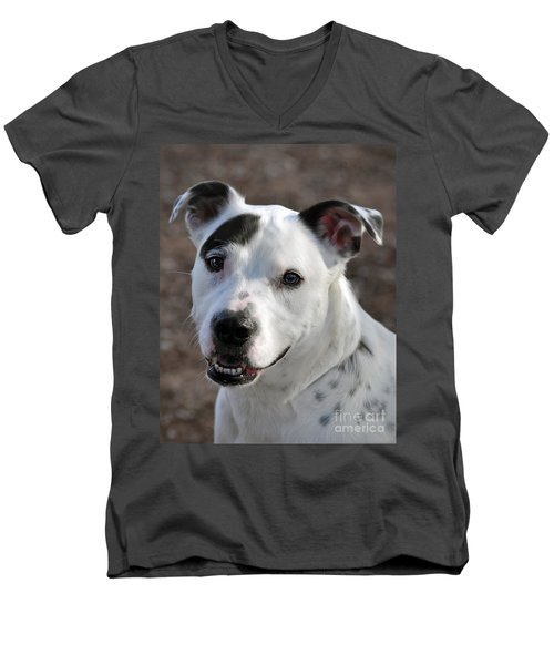Men's V-Neck T-Shirt featuring the photograph Are You Looking At Me? by Savannah Gibbs