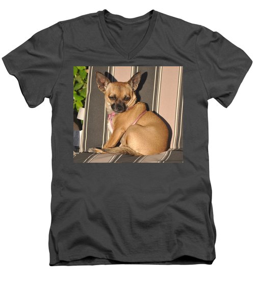 Are  You Talking To Me Men's V-Neck T-Shirt by Jay Milo