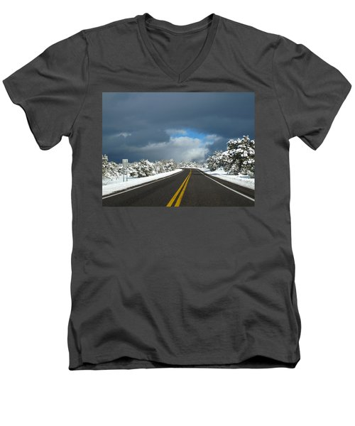 Arizona Snow 1 Men's V-Neck T-Shirt