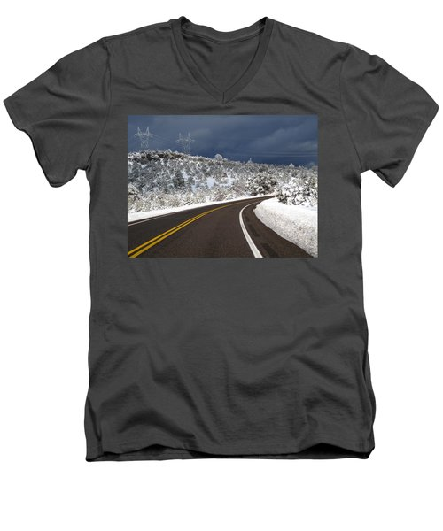 Arizona Snow 2 Men's V-Neck T-Shirt
