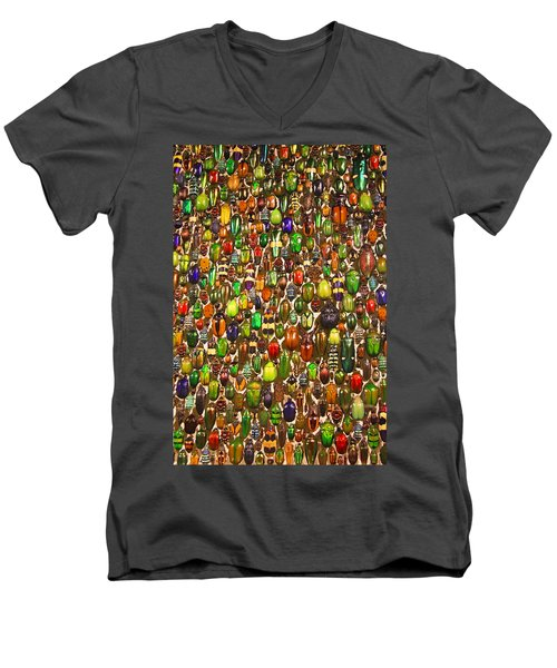 Army Of Beetles And Bugs Men's V-Neck T-Shirt