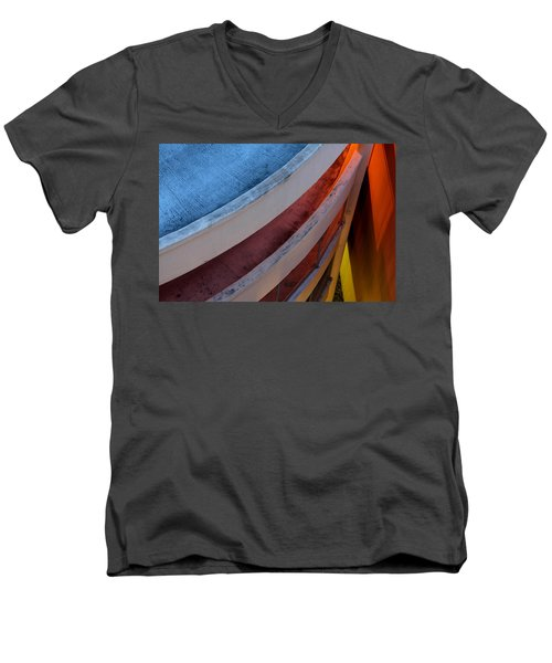Around And Down Men's V-Neck T-Shirt by Greg Allore