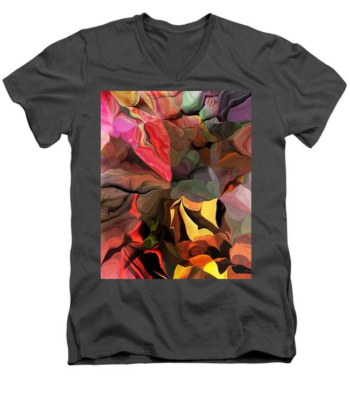 Men's V-Neck T-Shirt featuring the digital art Arroyo  by David Lane