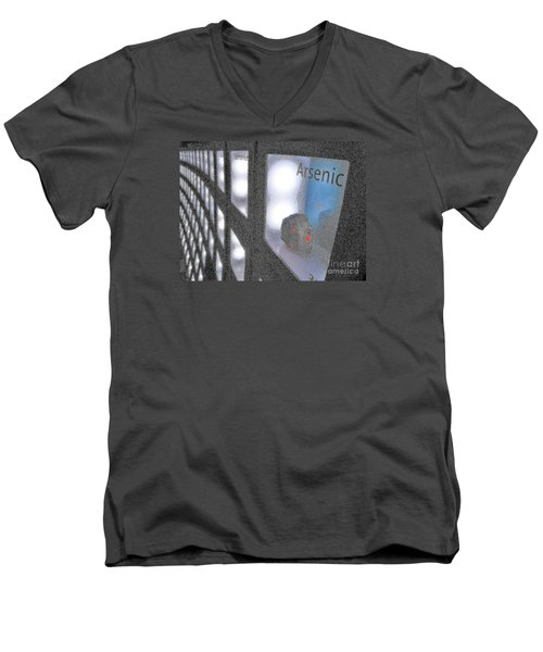 Men's V-Neck T-Shirt featuring the photograph Arsenic No Lace by John King