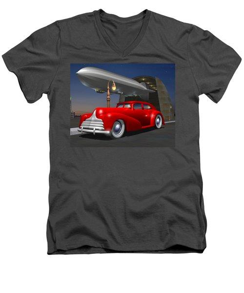 Art Deco Sedan Men's V-Neck T-Shirt by Stuart Swartz