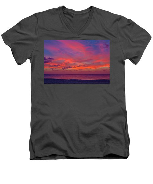 Aruba Sunset Men's V-Neck T-Shirt