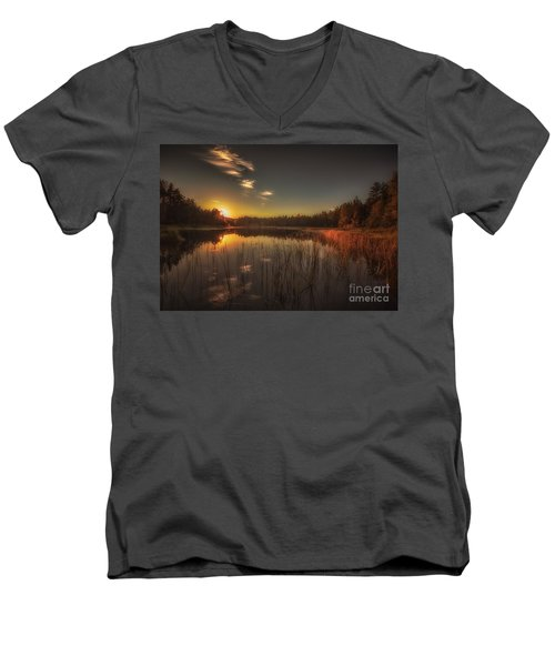 Men's V-Neck T-Shirt featuring the photograph As In A Dream by Rose-Maries Pictures