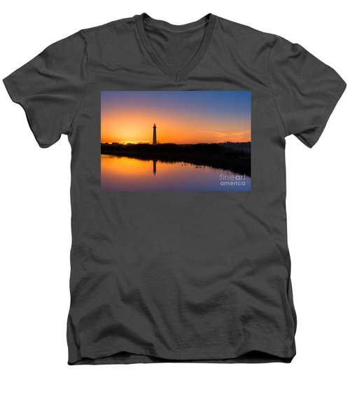 As The Sun Sets And The Water Reflects Men's V-Neck T-Shirt by Michael Ver Sprill