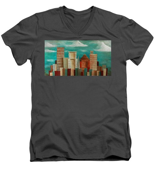 Asheville Skyline Men's V-Neck T-Shirt