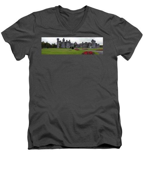 Ashford Castle Men's V-Neck T-Shirt by Hugh Smith