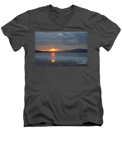 Ashokan Reservoir 34 Men's V-Neck T-Shirt