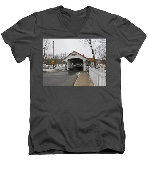 Ashuelot Bridge Men's V-Neck T-Shirt