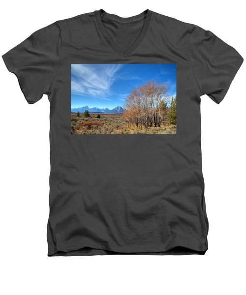 Men's V-Neck T-Shirt featuring the photograph Aspen Last Stand  by David Andersen