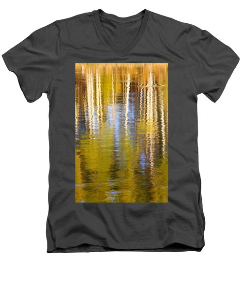 Aspen Reflection Men's V-Neck T-Shirt by Kevin Desrosiers