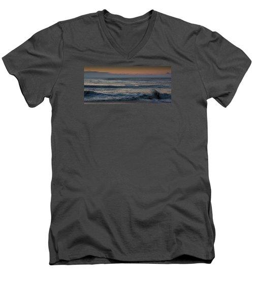 Assateague Waves Men's V-Neck T-Shirt by Photographic Arts And Design Studio