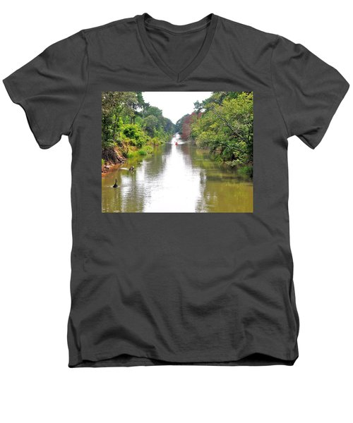 Assawoman Canal - Delaware Men's V-Neck T-Shirt