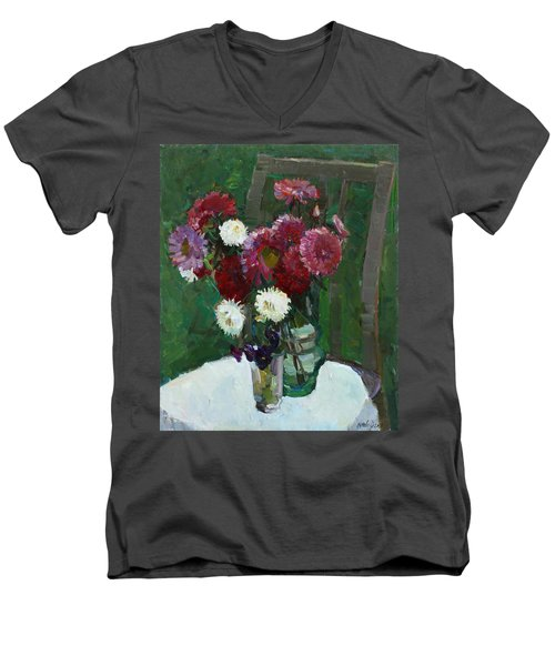 Asters In The First Frosts Men's V-Neck T-Shirt