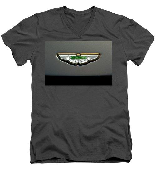 Aston Martin Emblem Men's V-Neck T-Shirt