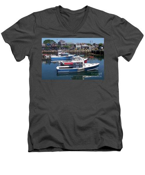 Colorful Boats Men's V-Neck T-Shirt