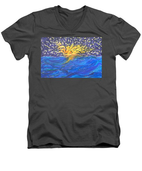 At Sea Men's V-Neck T-Shirt by Mark Minier