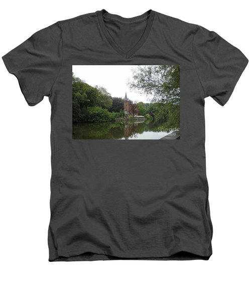 at THE MINNEWATER in BRUGGE Brugges Belgium Men's V-Neck T-Shirt