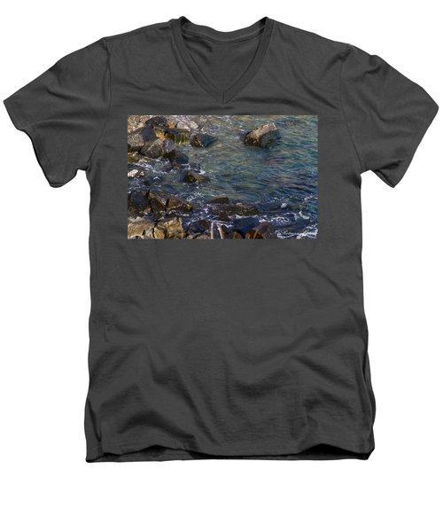 Atlantic Ocean Maine Men's V-Neck T-Shirt