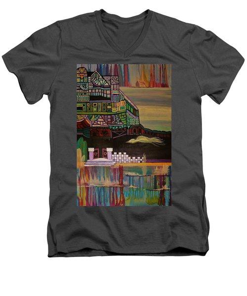 Atlantis Men's V-Neck T-Shirt by Barbara St Jean