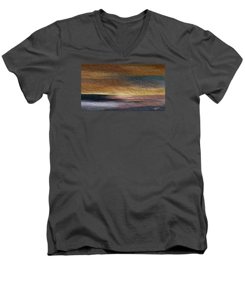 Men's V-Neck T-Shirt featuring the digital art Atmosphere by Anthony Fishburne