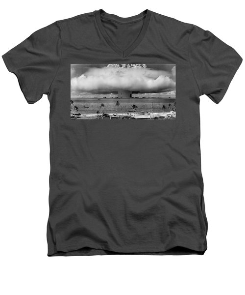 Atomic Bomb Test Men's V-Neck T-Shirt