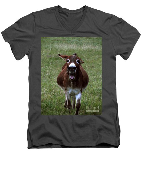 Men's V-Neck T-Shirt featuring the photograph Attack by Peter Piatt
