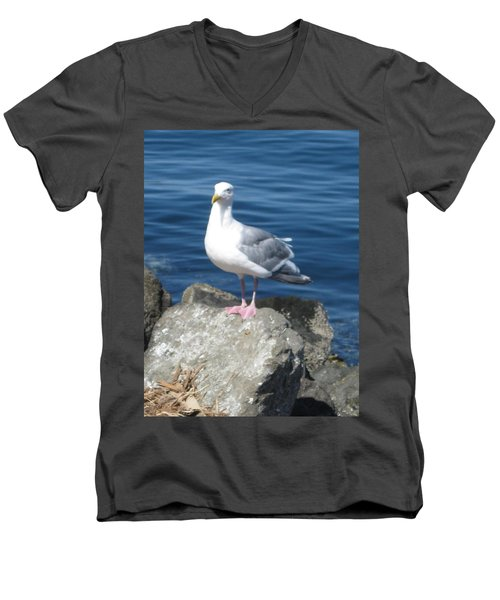 Attitude Men's V-Neck T-Shirt by David Trotter