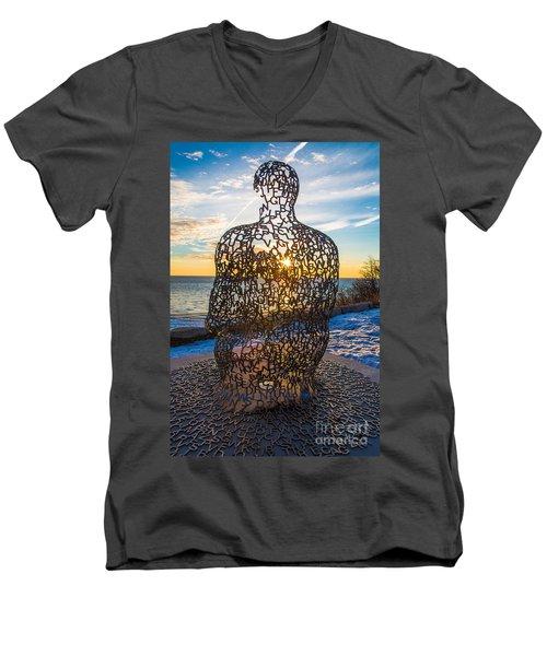 Atwater Spillover Sunrise Men's V-Neck T-Shirt