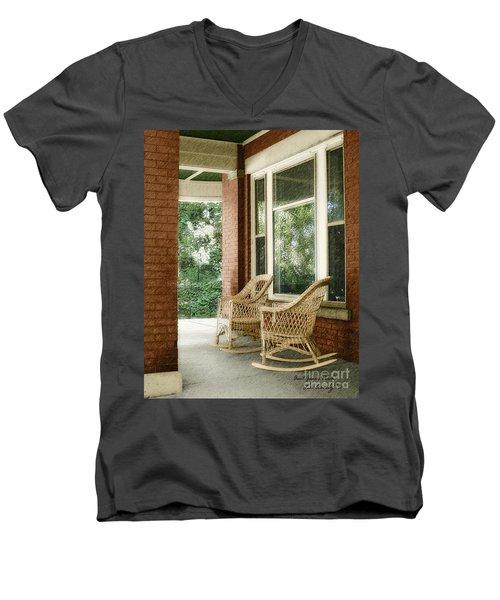 Aunt Jane's Porch Men's V-Neck T-Shirt