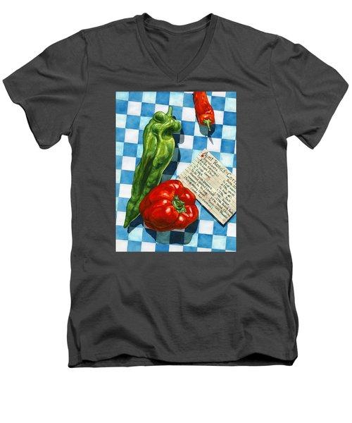 Aunt Rosa's Cornbread Men's V-Neck T-Shirt by Lynda Hoffman-Snodgrass
