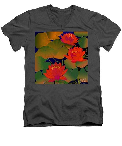 Aura Men's V-Neck T-Shirt by Latha Gokuldas Panicker