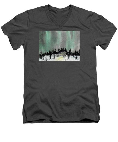 Aurora Magic - Dance Of The Lights Men's V-Neck T-Shirt