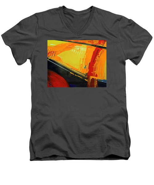 Abstract Composition No 2 Men's V-Neck T-Shirt by Walter Fahmy