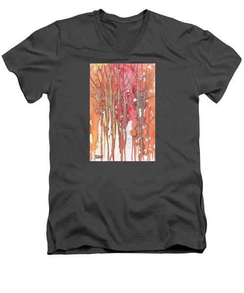 Autumn Abstract No.1 Men's V-Neck T-Shirt