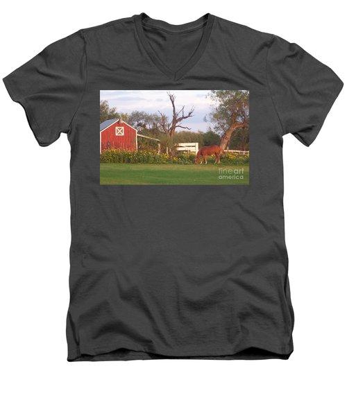 Autumn Abundance Men's V-Neck T-Shirt by Susan Williams