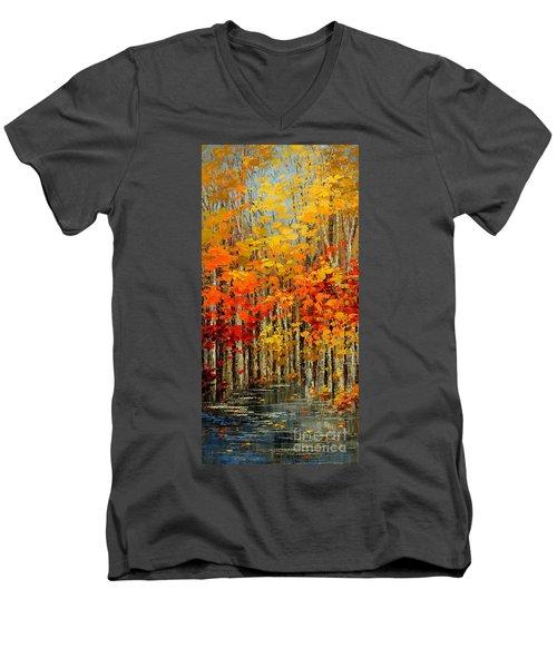 Autumn Banners Men's V-Neck T-Shirt